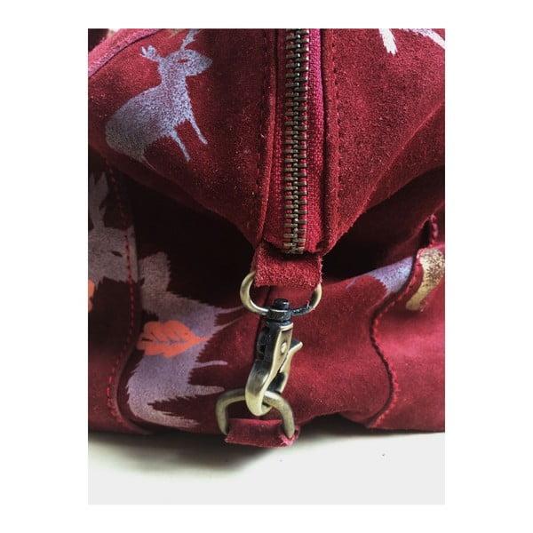 Kožená kabelka Trapecista Bordeaux