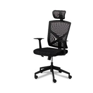 Čierna kancelárska stolička Furnhouse Nova