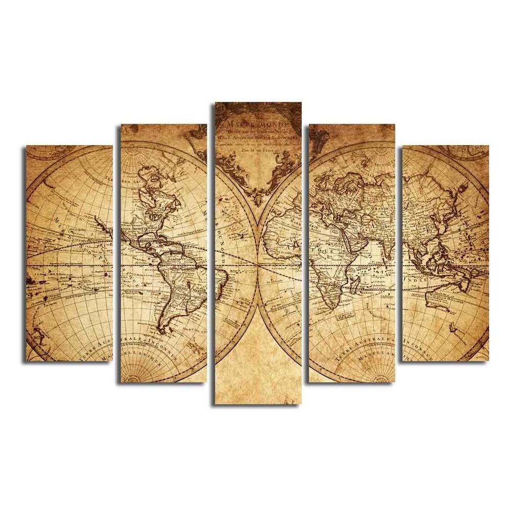 Viacdielny obraz Big Map Of The World, 105 × 70 cm