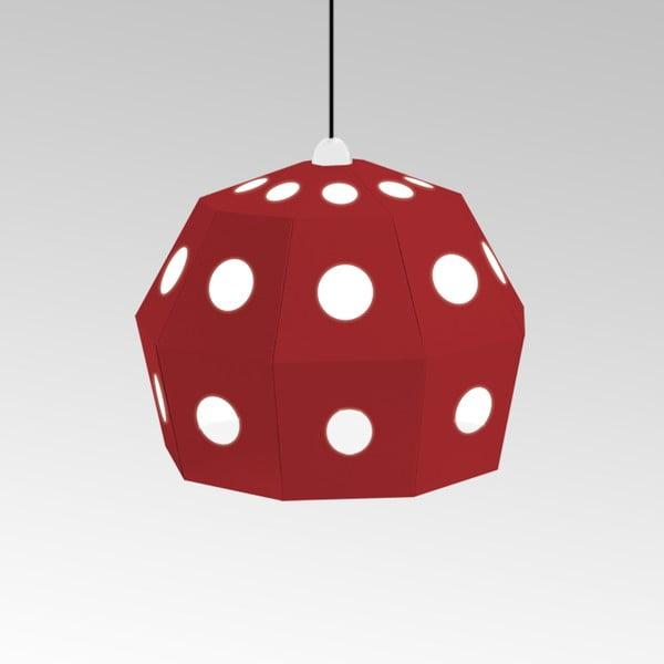 Kartónové svietidlo Uno Fantasia B Red, s čiernym káblom