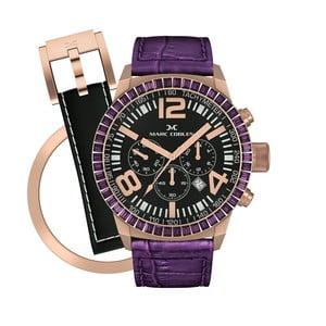 Dámske hodinky Marc Coblen s remienkom a krúžkom na ciferník naviac P36