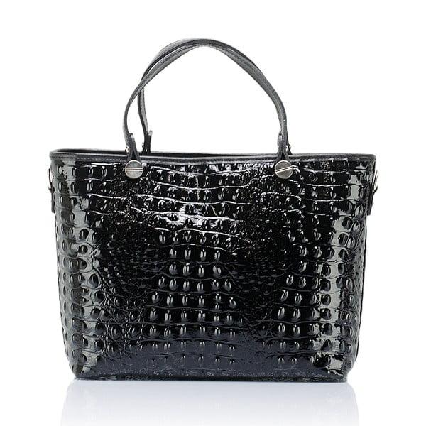 Čierna kožená kabelka Massimo Castelli Adalgisa