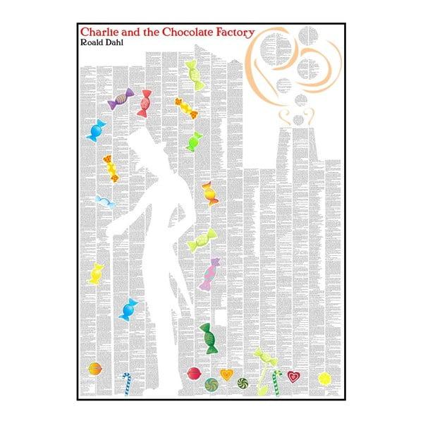Knižný plagát Charlie a továreň na čokoládu, 50x70 cm