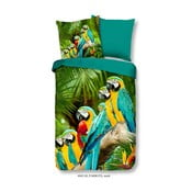 Obliečky na jednolôžko z mikroperkálu Muller Textiels Green Jungle, 135×200 cm