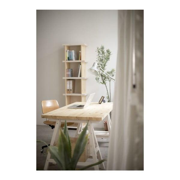 Stôl Stemke na bielych podstavcoch, 210 cm