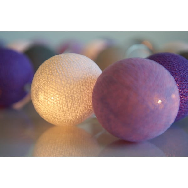 Svietiaca reťaz Irislights Lavender, 20 svetielok