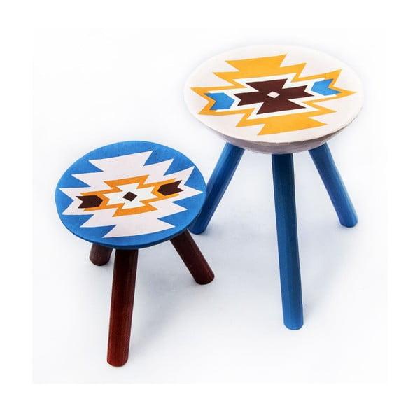 Sada 2 ručne maľovaných stoličiek Viscri