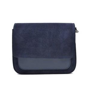 Námornícka modrá kožená kabelka Mangotti Zoe