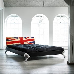 Posteľ Karup Eagle Black / Union Jack,  140x200 cm