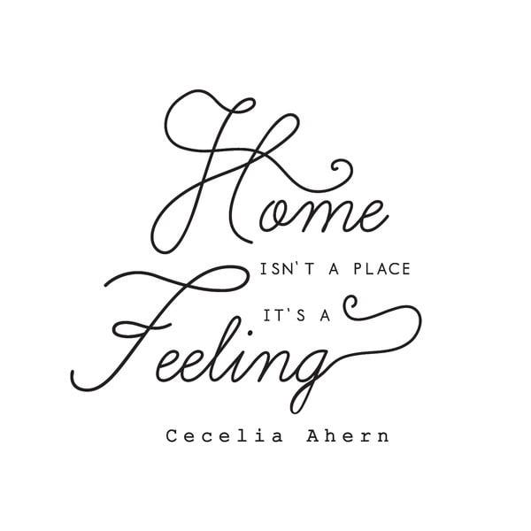 Dekoratívna nástenná samolepka Home Feeling