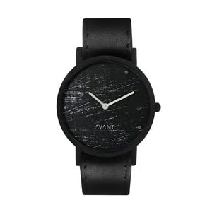 Čierne unisex hodinky s čiernym remienkom South Lane Stockholm Avant Raw