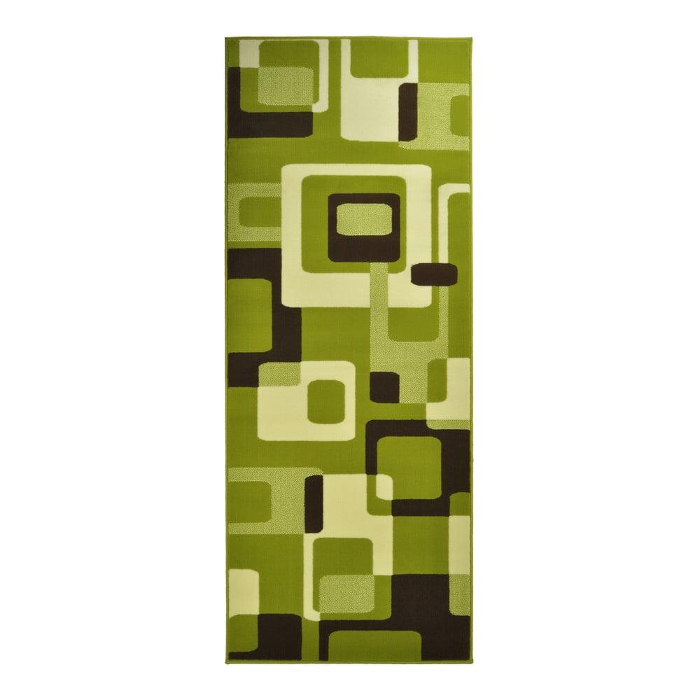 Zelený koberec Hanse Home Hamla Retro, 80 × 300 cm