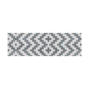 Šedě vzorovaný behúň White Label Zic Zac, 150×50 cm