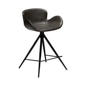 Tmavosivá barová stolička z eko kože DAN–FORM Denmark Gaia, výška 87 cm