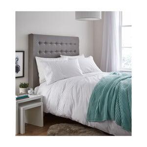 Biele posteľné obliečky Catherine Lansfield Lace Bands, 135 x 200 cm