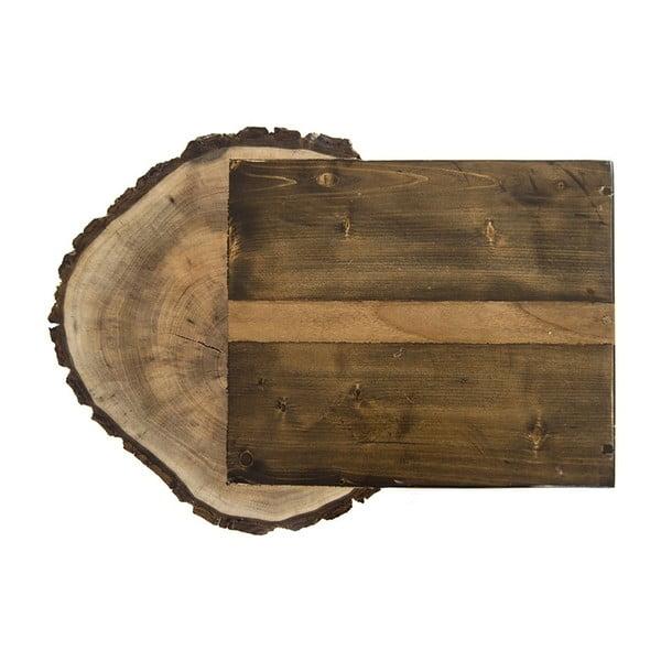 Servírovací stolík z dreva borovice a orecha Tamela