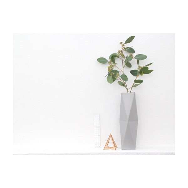 Skladacie origami váza SNUG.Grey
