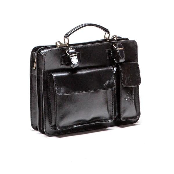 Kožená kabelka Isabella Rhea 305, čierna
