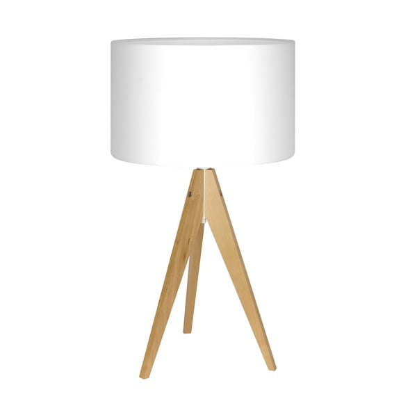 Stolná lampa Artist White/Birch, 40x33 cm