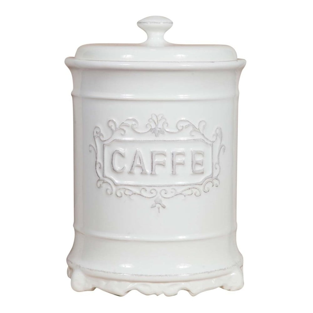 Keramická biela dóza na kávu Crido Consulting Biscottini Cuisine Léontine