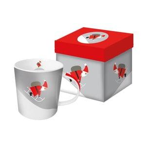 Porcelánový hrnček s vianočným motívom v darčekovom balení PPD Here Comes Santa, 350 ml