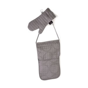 Sada kuchynskej chňapky a vrecka U.S. Polo Assn. Grey