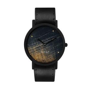 Unisex hodinky s čiernym remienkom South Lane Stockholm Avant Noir