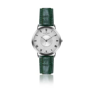 Pánske hodinky s tmavozeleným remienkom z pravej kože Frederic Graff Silver Grand Combine Croco Dark Green