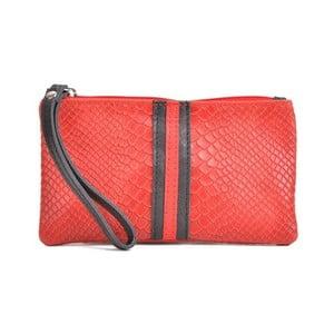 Červená kožená listová kabelka Mangotti Bags Studo