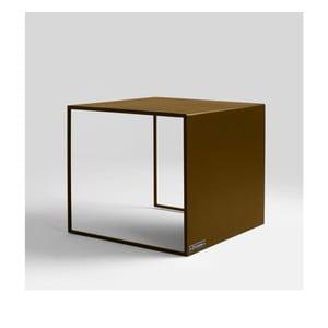 Odkladací stolík v zlatej farbe Custom Form 2Wall