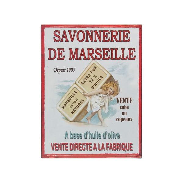 Nástenná ceduľa De Marseille, 25x33 cm