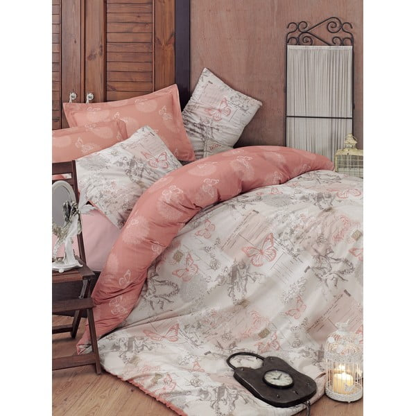 Béžové obliečky s plachtou Love Colors Halen,160 x 220 cm
