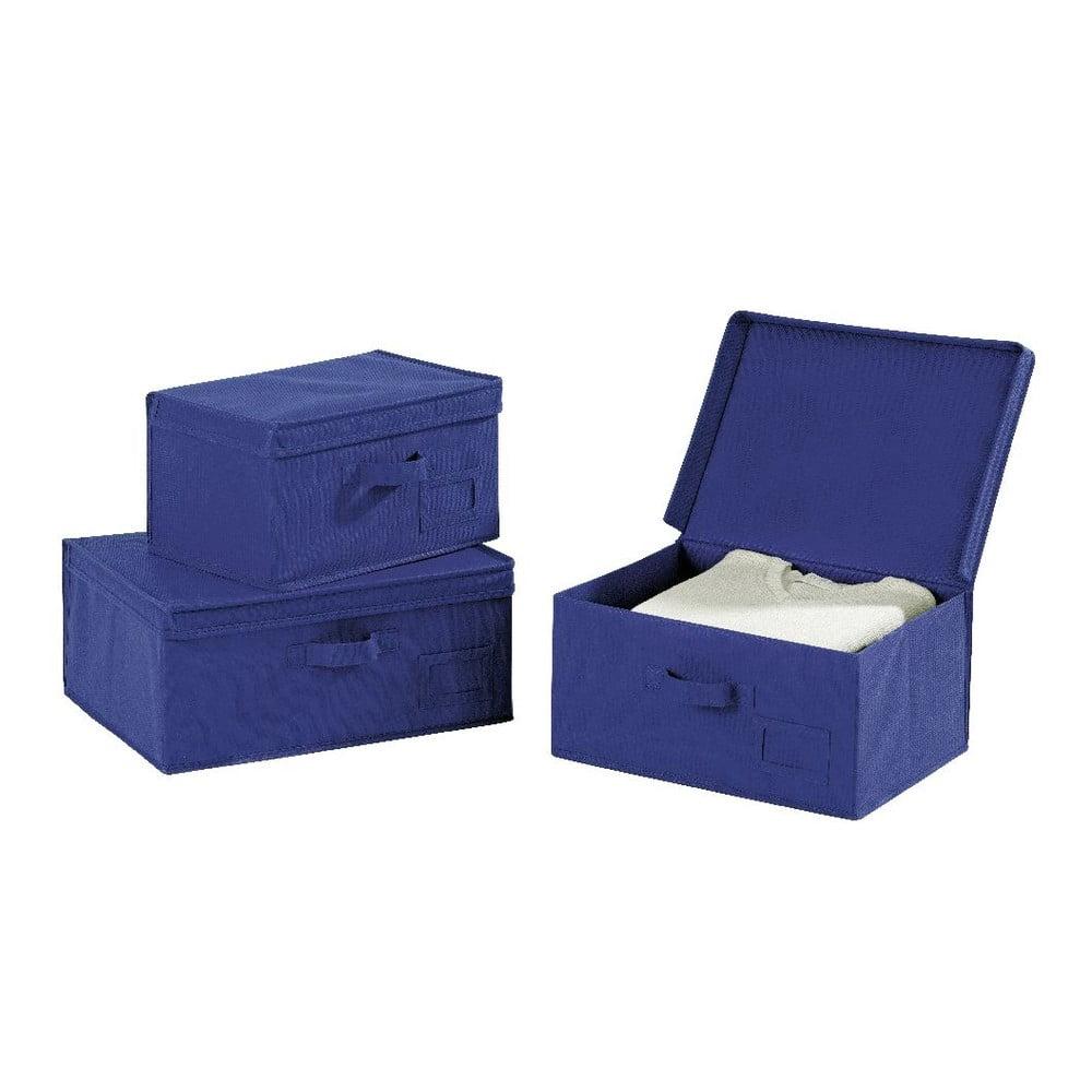 Modrý úložný box Wenko Ocean, dĺžka 34 cm