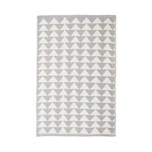 Sivý bavlnený ručne tkaný koberec Pipsa Triangle, 140×200 cm
