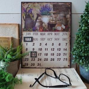 Stolový kovový kalendár Home Sweet Home