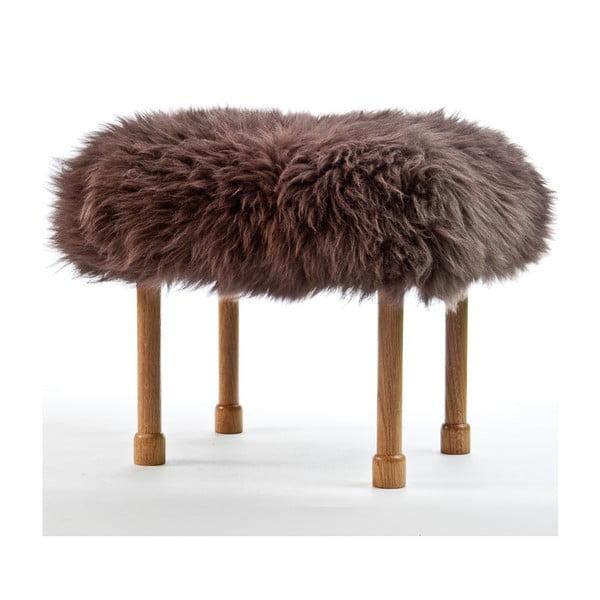 Stolička z ovčej kože Megan Mink