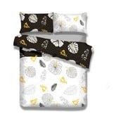 Flanelové posteľné obliečky AmeliaHome Floral Rain, 135×200 cm