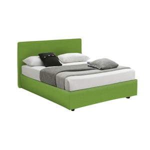 Zelená jednolôžková posteľ s úložným priestorom 13Casa Ninfea, 120 x 190 cm