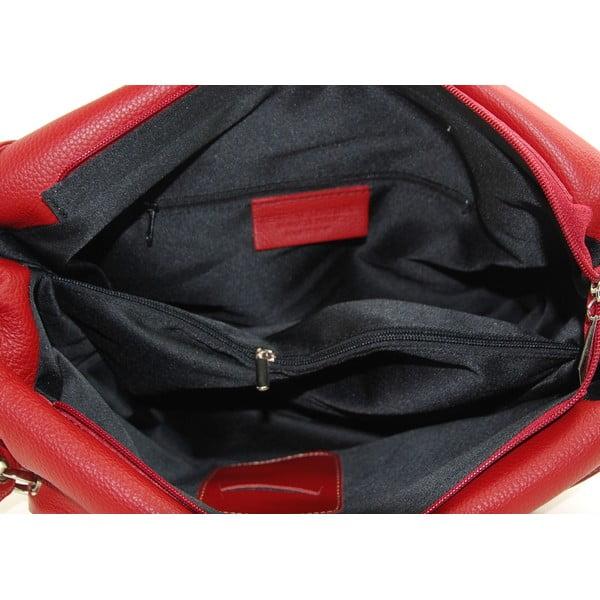 Kožená kabelka Diona Rosso/Nero