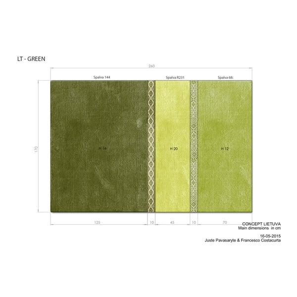 Zelený koberec EMKO Lietuva, 170×260cm