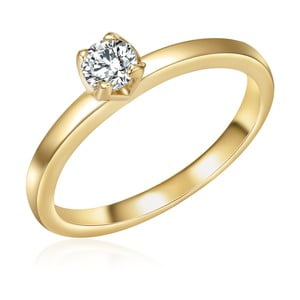 Dámsky prsteň zlatej farby Runaway Kim, 54