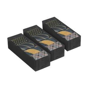 Set 3 rozdeľovačov Black Small