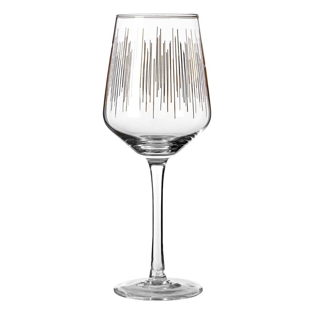 Sada 4 pohárov na víno z ručne fúkaného skla Premier Housewares Deco, 4,3 dl