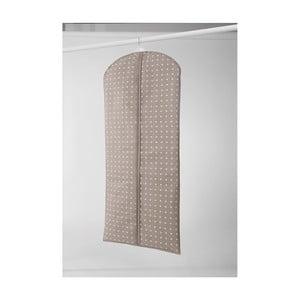 Veľký béžový závesný obal na šaty Compactor Dots, 137 cm