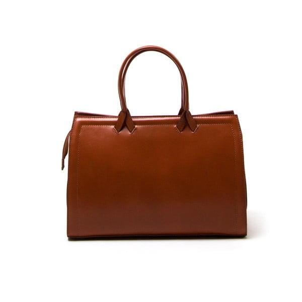 Kožená kabelka Luisa Vannini 3009 Cognac
