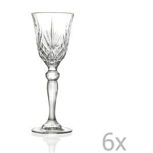 Sada 6 pohárov na sekt RCR Cristalleria Italiana Vittoria