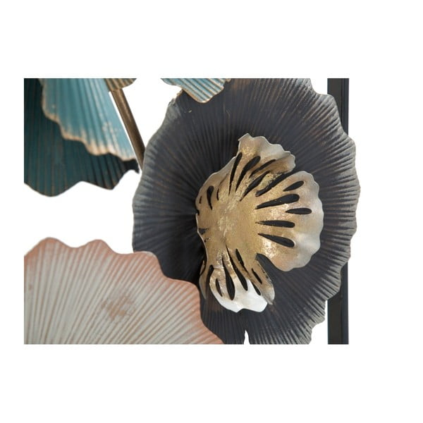 Železná nástenná dekorácia s kvetinovými motívmi Mauro Ferretti Obly, výška 88,5 cm