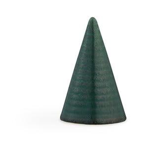 Tmavozelená kameninová dekoratívna soška Kähler Design Glazed Cone Dark Green, výška 11 cm