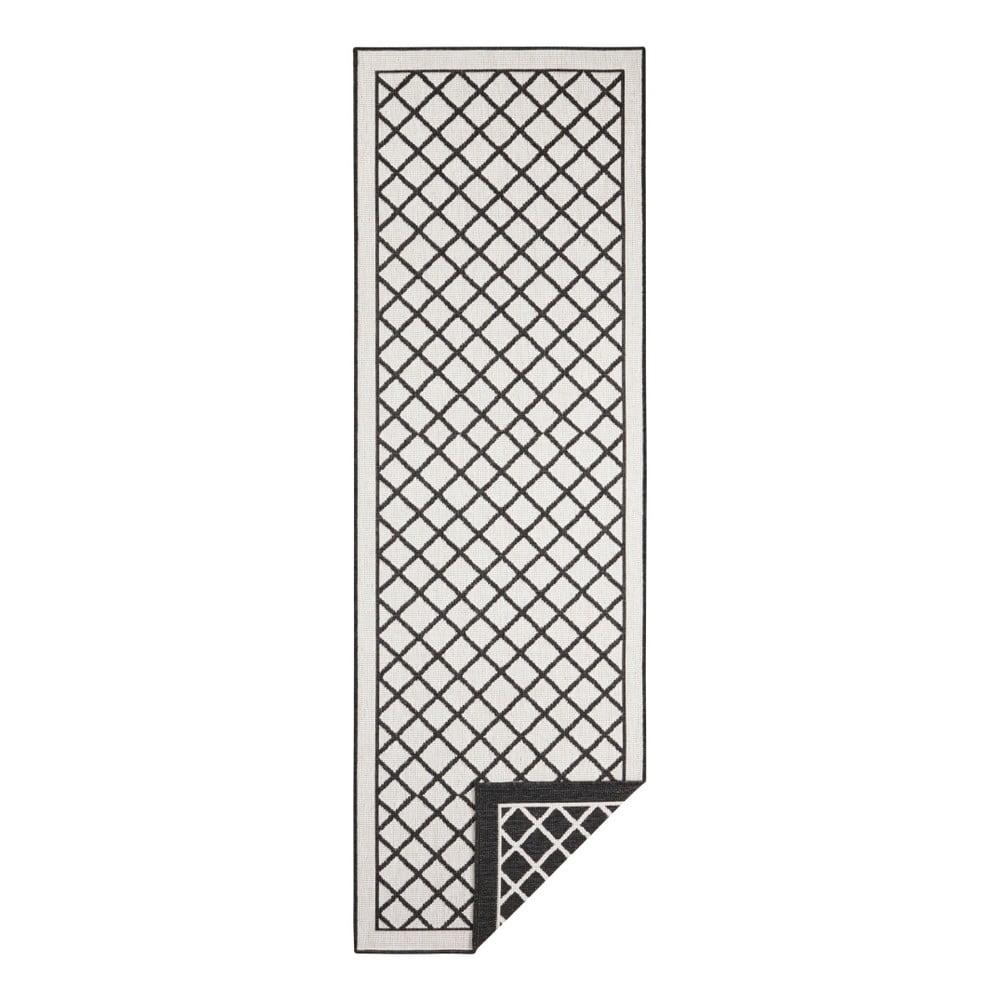 Čierno-krémový vonkajší koberec Bougari Sydney, 80 x 250 cm