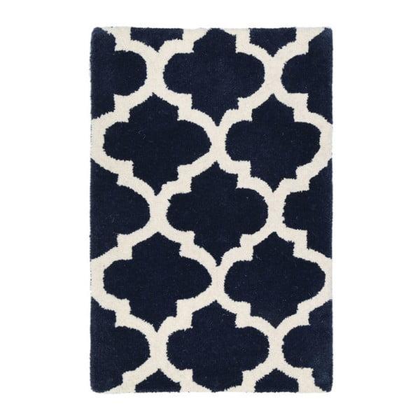 Ručne vyšívaný koberec Kensington Navy, 120 x 180 cm